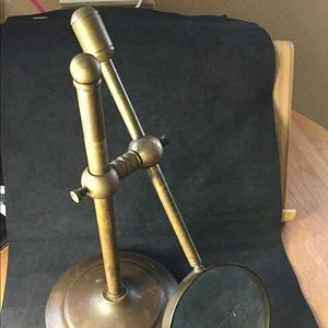 Bronze brass desk top magnifying